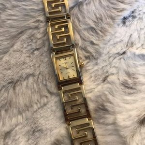 Vintage watch Express LA gold Greek key excellent